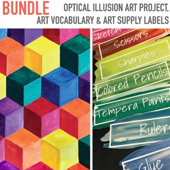 Optical Illusion Art Lesson Art Vocabulary 184 Editable Art Room Labels