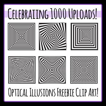 Optical Illusions Free Clip Art - Celebrating 1000 uploads!  Commercial Use!