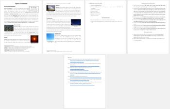 Optical Phenomena - Science Reading Article - Grades 5-7