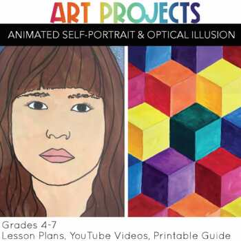 Optical illusion art project and Animated Self-Portrait