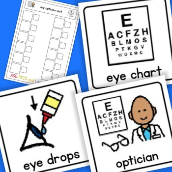 Opticians Visit Routine Checklist - Boardmaker Visual Aids for Autism SPED