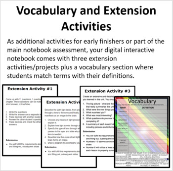 Optics - Digital Interactive Notebook