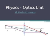 Optics Unit (FULL) - Reflection, Refraction, Concave & Convex Mirrors and Lenses