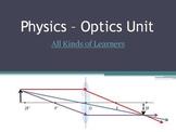 Optics Unit (FULL) - Reflection, Refraction, Concave & Con