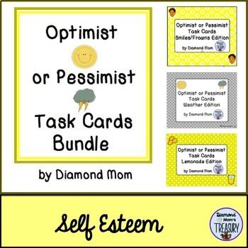 Optimist or Pessimist Task Cards Bundle