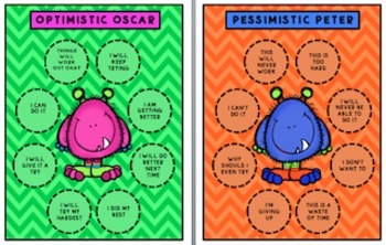 Optimistic Oscar and Pessimistic Peter Posters