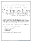 Optimization Spiral Homework and Solutions