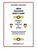 Optimized Educator New Teacher Workbook Bootcamp Mission 2
