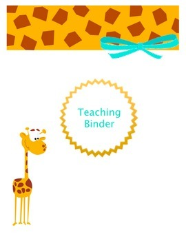 Optional Covers for Teaching Binder