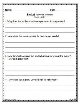 Optional Writing Tasks for Expeditionary Learning (EL) 1st Grade Module 3 Unit 2