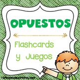 Spanish Speech Therapy - Opuestos Opposites - Flashcards & Games -- NO PREP