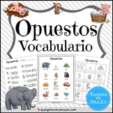 Opuestos Vocabulario {Spanish Opposite Words Vocabulary}
