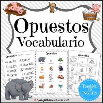 Opuestos Worksheet