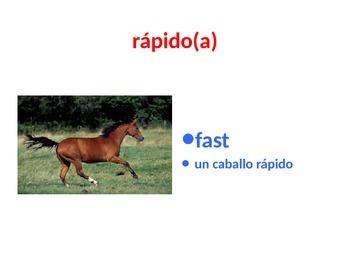 Opuestos in Spanish ppt