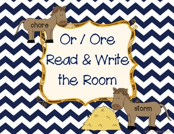 Or/Ore Read and Write the Room / Word Sort