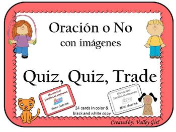 Oracion o NO (Spanish)