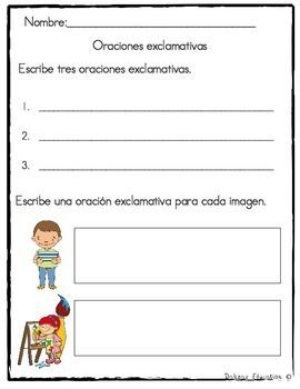 Oraciones Exclamativas | exclamatory sentences in SPANISH