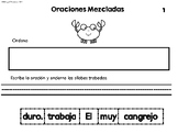 Mixed Up Sentences- Oraciones Mezcladas- 1st and 2nd set 1