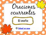 Oraciones Ocurrentes: Otoño  A Fall Spanish Language Arts