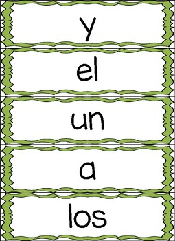 Oraciones con Palabras de Alta Frecuencia Spanish Sight Word Sentences
