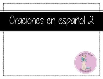 Oraciones en ESPANOL 2