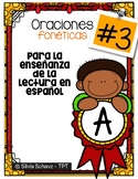 Oraciones fonéticas para enseñar a leer en español # 3