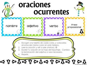Oraciones ocurrentes Bundle: Full Year Spanish Literacy Centers! [Dual Language]