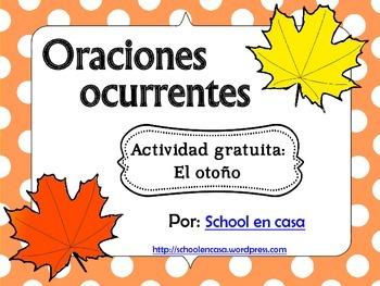 Oraciones ocurrentes: Otoño *FREE VERSION* Spanish Literac