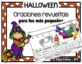 Oraciones revueltas para los más pequeños - Halloween