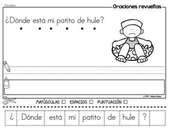 Oraciones revueltas para los más pequeños - Verano