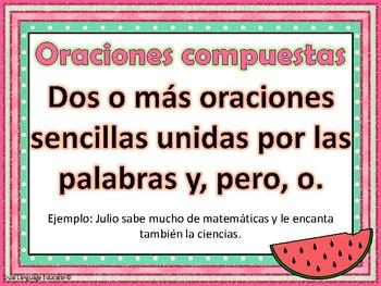 Oraciones simples y compuestas - Simple and Compound Sentences - Spanish