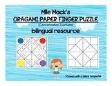 Oragami Paper Finger Puzzle Bilingual Conversation Starters