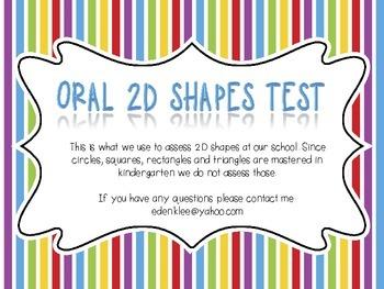 Oral 2D Shapes Test