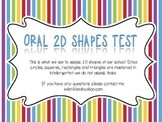 Oral 2D Shapes Test