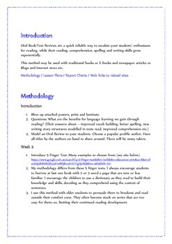 Reading Promotion through an Oral Review/Report Program