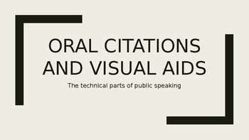 Oral Citations and Visual Aids PowerPoint