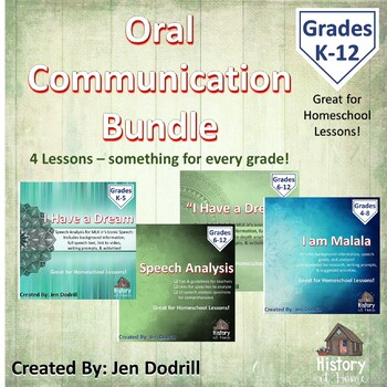 Oral Communication BUNDLE! (all grades/homeschool)