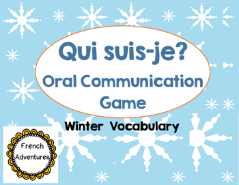 Oral Communication Game: Qui suis-je Winter Edition
