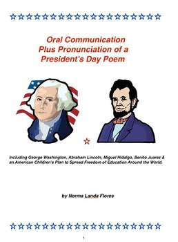 Oral Communication Plus Pronunciation of a President's Day Poem