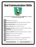 Oral Communication Skills Handout