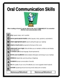 Oral Communication Skills Handout