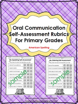 Oral Communication (Speaking/Listening) Self-Assessments {American Spelling}