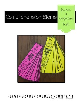 Oral Comprehension Question Stem Cards {for Fiction + Nonf