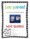 """Oral Conversation Game - Les Paires """"MINI BUNDLE"""""""