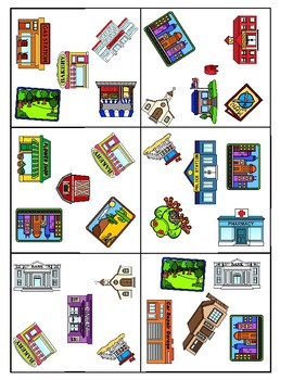 """Oral Conversation Game - Les Paires """"PLACES"""""""