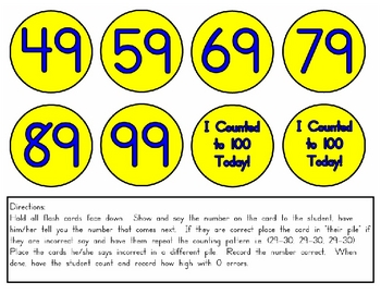 Oral Counting Intervention