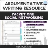 Argumentative Writing Topic-Social Media:Packet #1