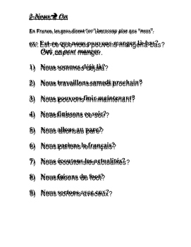 Oral Drills for French 3, French 4, French 5