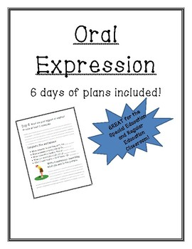 Oral Expression Plans
