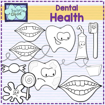 Dental health and Oral Hygiene Clipart